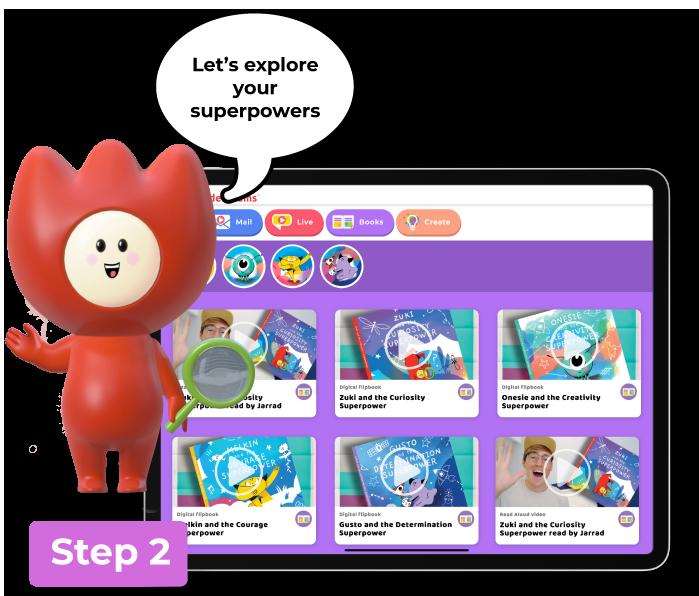 Wonderchums platform Step 2